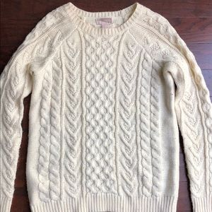 Forever 21 cream cable knit sweater: size S/M